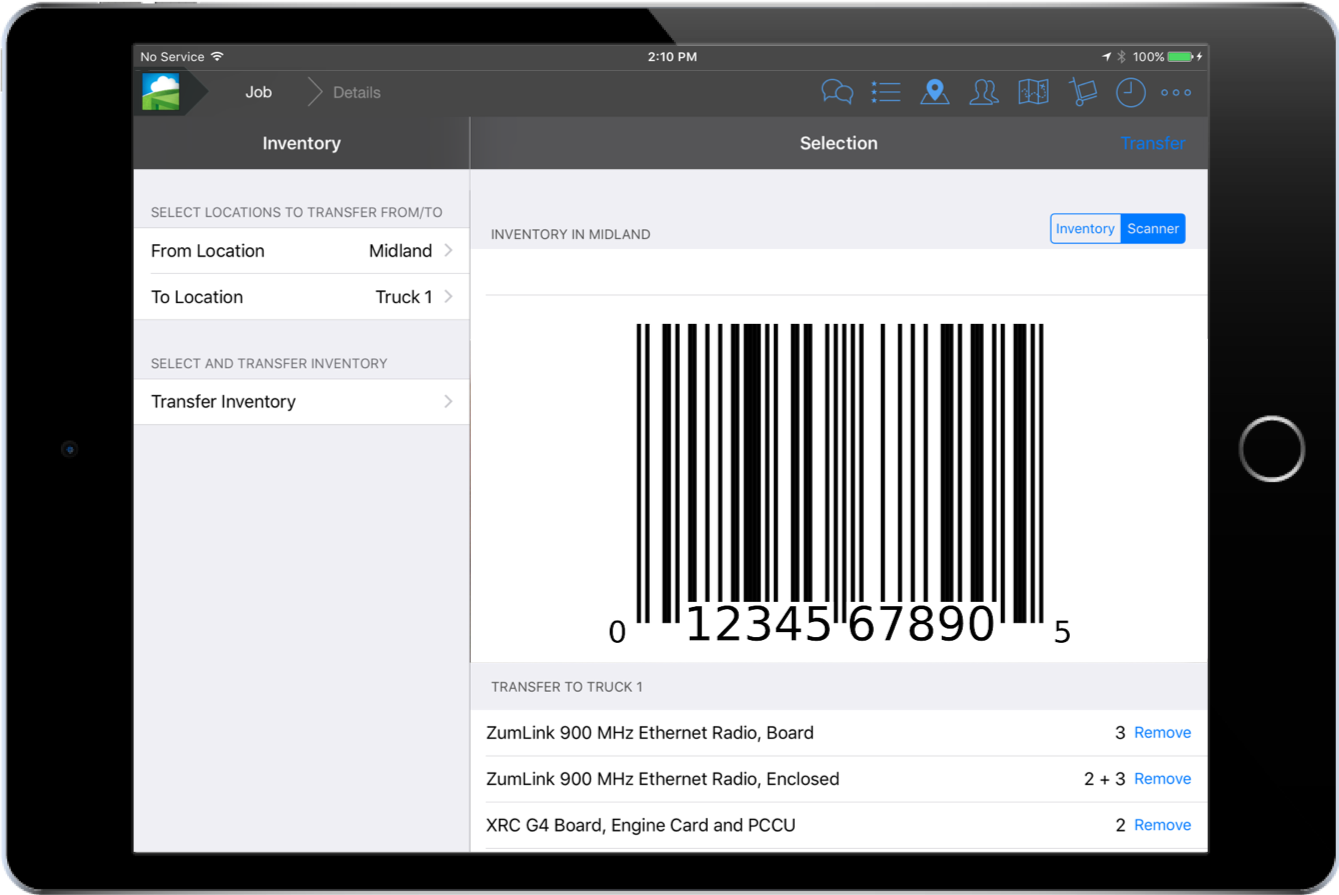 barcode scan inventory transfer